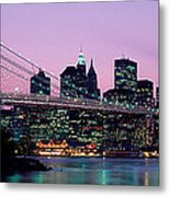 Brooklyn Bridge New York Ny Usa Metal Print