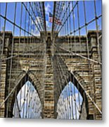Brooklyn Bridge Ny Metal Print