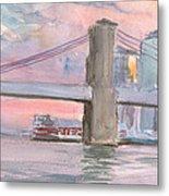 Brooklyn Bridge Sunset 2013 Metal Print