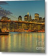 Brooklyn Bridge Twilight Metal Print