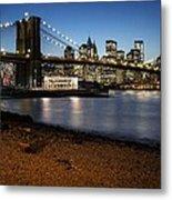 Brooklyn Bridge View Metal Print