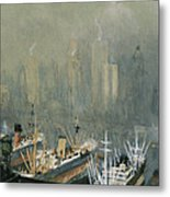 Brooklyn Harbor Circa 1921  Metal Print