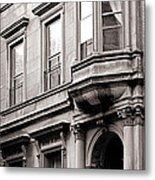 Brooklyn Heights -  N Y C - Classic Building And Bike Metal Print