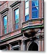 Brooklyn Heights - Nyc - Classic Building And Bike Metal Print