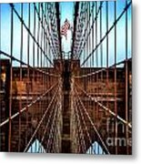 Brooklyn Perspective Metal Print by Az Jackson