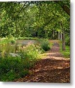 Brookside Garden Walk Metal Print