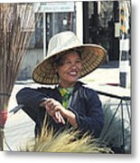 Broom Seller  Metal Print