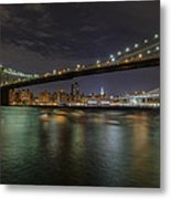 Broooklyn Bridhe At Night Metal Print