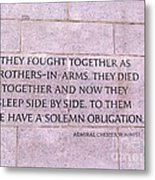 Brother's In Arms  Metal Print