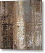 Slender - Grey And Brown Abstract Art Painting Metal Print