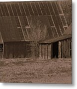 Brown Barns Metal Print