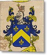 Brown Coat Of Arms - England Metal Print