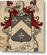 Brown Coat Of Arms - Scotland Metal Print