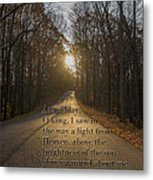 Brown County State Park Nashville Indiana Biblical Verse Metal Print