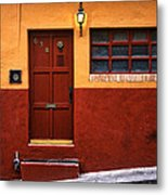 Brown Door In Mexico Metal Print