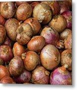 Brown Onions Metal Print