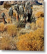 Brown Ridge Line Metal Print