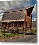 Brown Roof Barn Metal Print