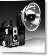 Brownie Hawkeye Black And White Metal Print