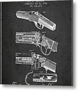 Browning Rifle Patent Drawing From 1921 - Dark Metal Print