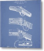 Browning Rifle Patent Drawing From 1921 - Light Blue Metal Print