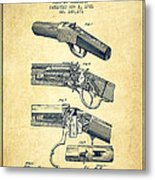 Browning Rifle Patent Drawing From 1921 - Vintage Metal Print