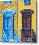 Brownstone Mural Art Metal Print