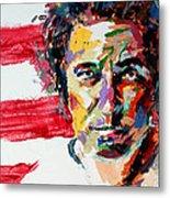 Bruce Springsteen Metal Print by Derek Russell