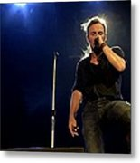 Bruce Springsteen Performing The River At Glastonbury In 2009 - 1 Metal Print