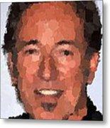 Bruce Springsteen Portrait Metal Print