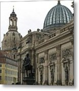 Bruehlsche Terrace - Church Of Our Lady - Dresden - Germany Metal Print