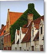 Bruges Rooftops Metal Print