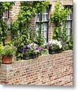 Brugge Balcony Metal Print by Carol Groenen