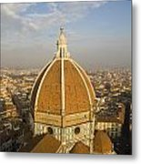 Brunelleschi's Dome At The Basilica Di Santa Maria Del Fiore Metal Print