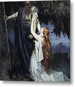 Brunhilde Knelt At His Feet, From The Metal Print
