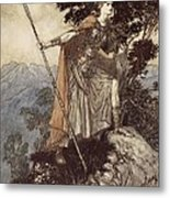 Brunnhilde From The Rhinegold And The Valkyrie Metal Print by Arthur Rackham