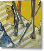 Brushes And Paints For Artists Palette Metal Print