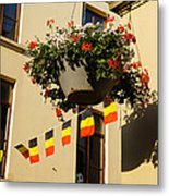 Brussels Belgium - Flowers Flags Football Metal Print