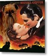 Brussels Griffon Art - Gone With The Wind Movie Poster Metal Print
