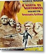 Brussels Griffon Art - North By Northwest Movie Poster Metal Print