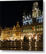 Brussels - The Magnificent Grand Place At Night Metal Print