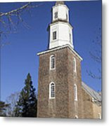 Bruton Parish Church In Colonial Williamsburg Metal Print