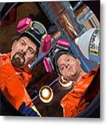 Bryan Cranston as Walter White and Aaron Paul as Jesse Pinkman @ TV serie Breaking Bad Metal Print