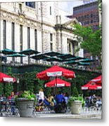 Bryant Park At Noon Metal Print by Dora Sofia Caputo Photographic Art and Design