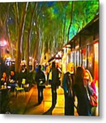 Bryant Park Evening Metal Print by Richard Trahan
