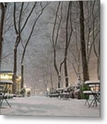 Bryant Park - Winter Snow Wonderland - Metal Print