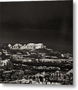 Bryce Canyon Formations In Black And White Metal Print