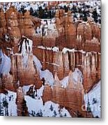 Bryce Canyon In Winter 2 Metal Print