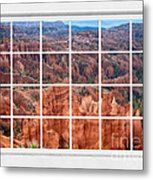 Bryce Canyon White Picture Window View Metal Print