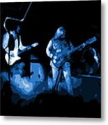 Bto In Spokane 1976 Blue Art Metal Print